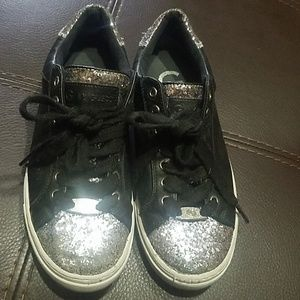 Nice black and glittery guess shoes